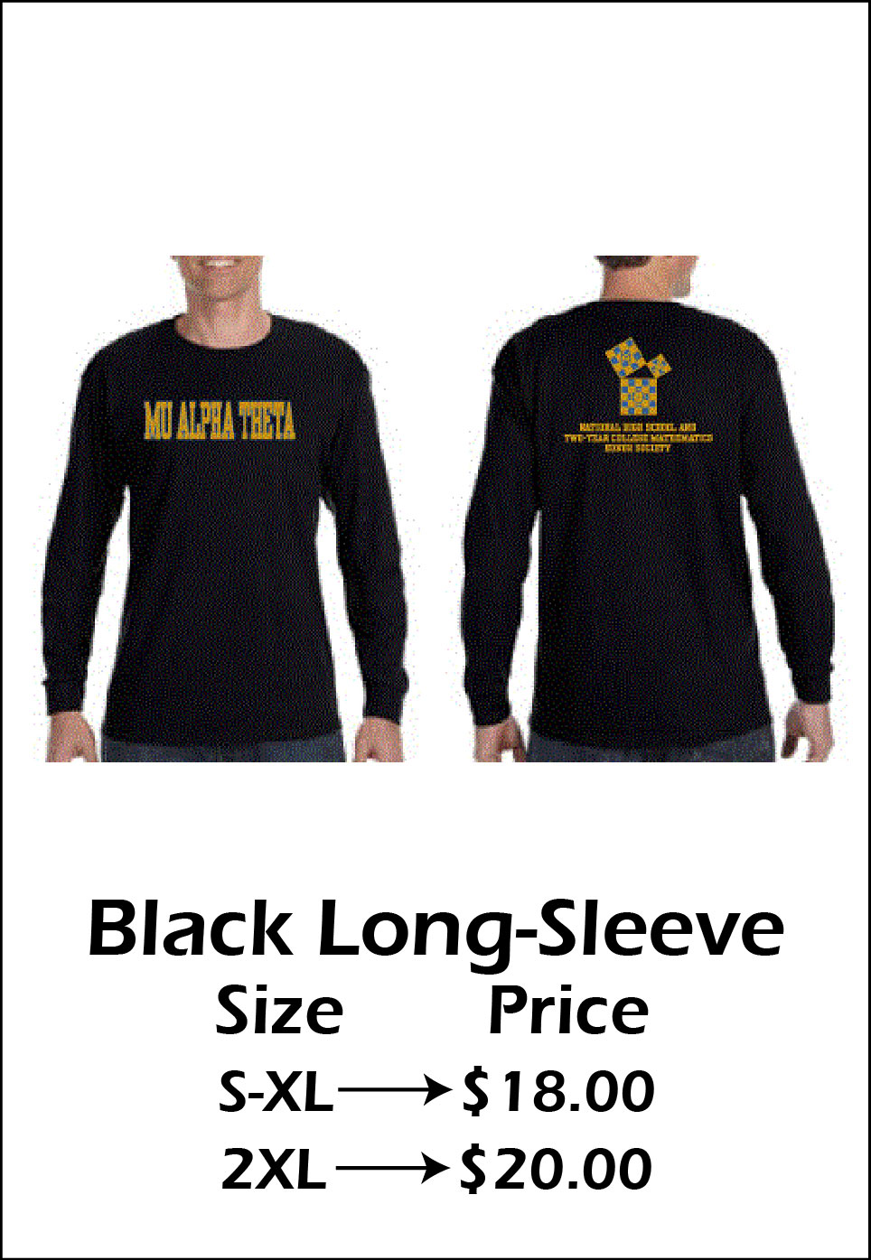Black Long-Sleeve T-shirt - $18-20